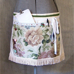 MARKET APRON On SALE, 30% Off, Recycled, Repurposed materials, Green and Pink