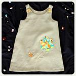 Girls linen summer dress / Sundress / Hand embroidered / Size 3Y
