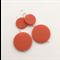 Bright orange plastic dangle earrings