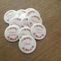 10 personalised Hens party / bachelorette badges. Add your name.