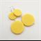 Bright yellow plastic dangle earrings