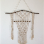 """Driftwood Point"" Macrame Wall Hanging"