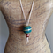 Large Ceramic Ball Pendant Green
