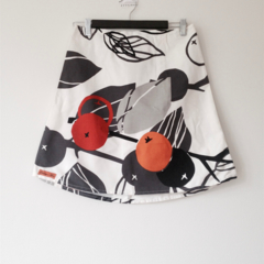 A-line Oranges Skirt