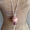 Large Ceramic Ball Pendant Pinks