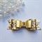 Gold Glitter Felt Hair Bow , Birthday Bow
