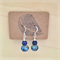 Sparkly blue howlite and glass beaded earrings