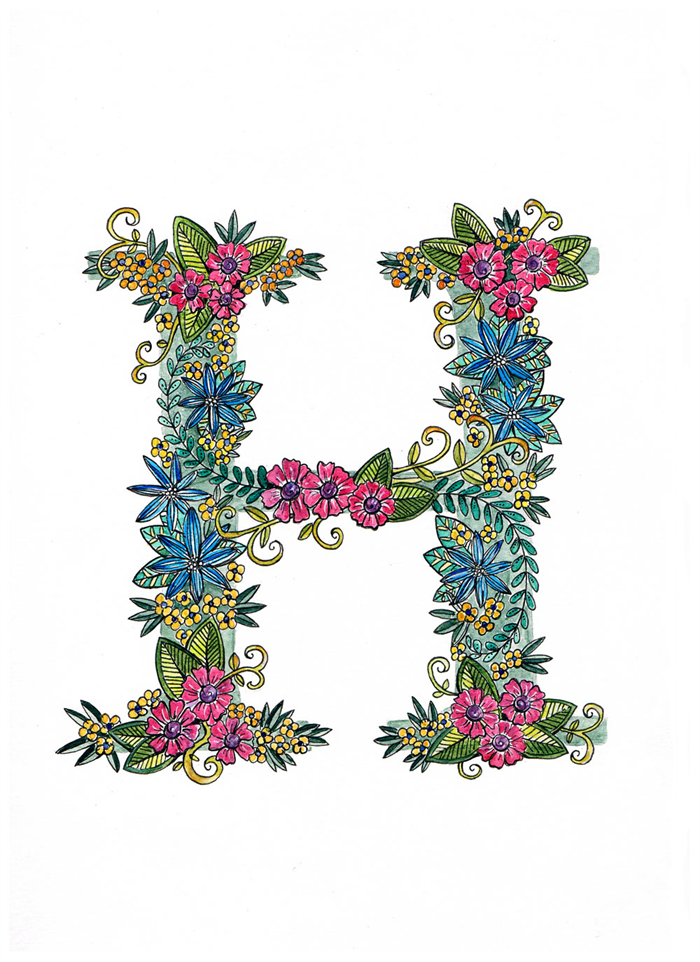 coloured letters to print