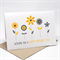 Mother's Day Card - Yellow and Grey Flowers - HMD010