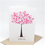 Thank You Card - Pink Cherry Blossom Tree - THY024