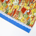 SALE - Half Apron - Autumn Harvest print - lined cotton apron