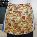 SALE - Half Apron - Farm Harvest Festival - lined cotton apron