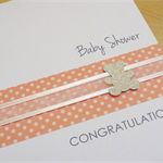 Baby shower congratulations card