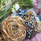 Bohemian Leather Embroidered Floral Headband, Hair Accessory, Bracelet (2 in 1)