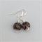 Brown agate simple elegant dangle earrings