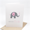Baby Girl Card - Grey and Pink Elephant with Hearts - BBYGRL033
