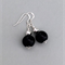 Elegant black and silver dangle earrings