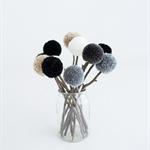 Pom Pom Flower (White, Beige, Black & Grey Shades)