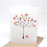 Blank Card - Tree with Polkadot Leaves - BLA041