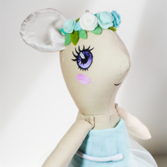 little flower mouse soft toy doll