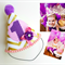 Baby Girl 1st Birthday Party Outfit Party Hat Purple Pink and Gold