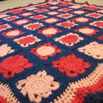 Pink & Blue lap rug