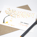 Sympathy Card, With Deepest Sympathy, Orange Autumn Tree, WDS017