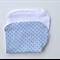 Baby Burp Cloth - Blue Polka Dots
