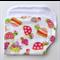 Baby Burp Cloth - Turtle Print on White
