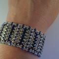 Stunning Superduo Cuff Bracelet