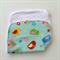 Baby Burp Cloth - Bird Print on Mint Green