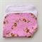 Baby Burp Cloth - Monkey Print on Pink