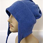 Earflap Hat blue mans size L