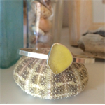 Citron Yellow Sea Glass Cuff Bracelet