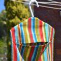 Fabric Peg Bag - Retro Stripes
