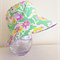 Girls summer hat in lovely purple & green floral fabric