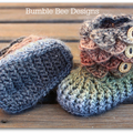 Crochet baby booties / crocodile stitch/ baby booty / size 0-6 months / rainbow