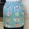Half Apron Vintage Teapot  - womens lined retro vintage kitchen apron - teapots