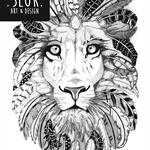 "A4 Black & White Print ""King of the Jungle"""