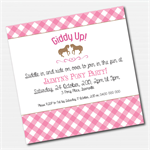Pony Girls Birthday Printable Custom Invitation