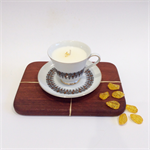 Vintage Soy Teacup Candle - Amber & Cardamom
