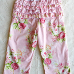 Ruffle Bum Baby Play Pants with Lace Size 1 - 2 (12 - 18 mths)
