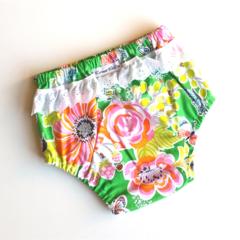 'Honey Bee' Baby Girl Ruffled Nappy Cover / Pants Size 1