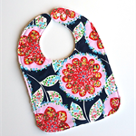 Designer Floral Baby Girls Bib