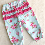 Vintage Roses Ruffle Bum Baby Play Pants with Lace Size 0, 9-12 mths