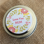 Love You Mum - Soy Candle Tin - Raspberry Sugar