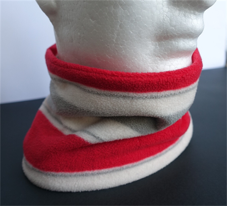 Neckwarmer: light-weight polar fleece, all-in-one, snug, scarf