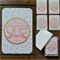 Baby Milestone Cards - Gold and Pink - Girl