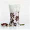 Mosaic vase ... mulberry shade with textured clear glass.. MothersDay gift