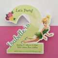 Personalised Tinker Bell Birthday Party Invitation Cutouts, 2 years old- 10pk